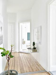 Style: White Walls // Wood Floors