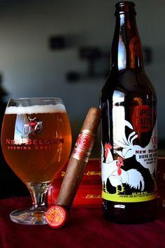 """alifewellsuited:  Camacho Cigar and New Belgium beer  """