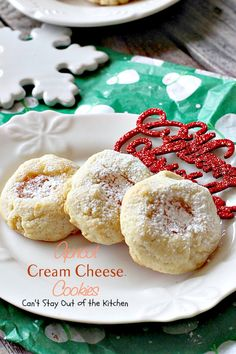 Apricot Cream Cheese Cookies – Can't Stay Out of the Kitchen Cheese Cookies Recipe, Thumbprint Cookies Recipe, Cream Cheese Cookies, Cookies And Cream, Cookies Et Biscuits, Fruit Cookies, Xmas Cookies, Cookie Desserts, Yummy Cookies