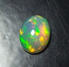 9x7 MM Natural Ethiopian Color Play Opal Cabochon Multi Color Flashy Opal A38 #unitedgemstones