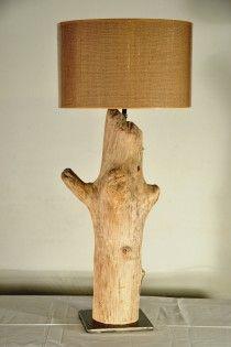 amarantàcia handmade driftwood lamp  natural design