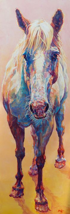 """Sun Drop :: Griffin Gallery :: Artwork by Patricia A. Griffin- Colorful Contemporary Horse Art Equine Painting""""Sun Drop""""by Contemporary Animal Artist Patricia A. Griffin-http://www.griffingallery.org/imageDetail.php?id=339"""