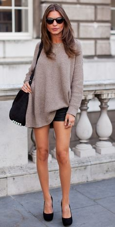 love the sweater and shorts