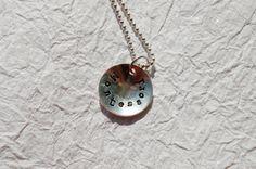Montessori Jewelry Necklace Pendant HandStamped by codysanantonio, $45.00