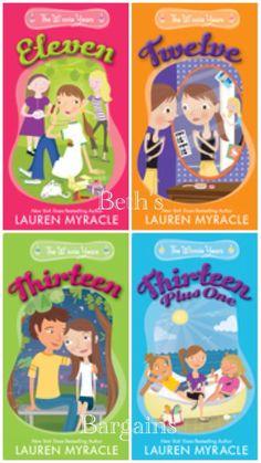 4 Books: Lauren Myracle WINNIE YEARS Eleven, Twelve, Thirteen, Thirteen + One