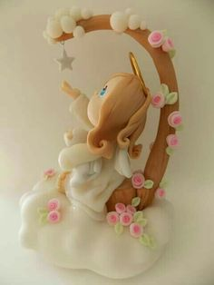 Polymer Clay Disney, Polymer Clay Cat, Clay Projects, Clay Crafts, Hobbies And Crafts, Diy And Crafts, Clay Art For Kids, Clay Angel, Ceramic Bisque