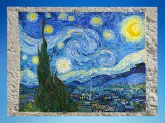 D'après La Nuit Etoilée, Vincent van Gogh, 1889 apjc. (Marsailly/Blogostelle)