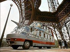 vintage everyday: Strange Double-Decker Bus in Paris, 1950s