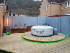lazy spa monaco hot tub soround ideas hot tub garden. Black Bedroom Furniture Sets. Home Design Ideas