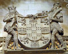 Escudo de Armas de los Condestables de Castilla - Pedro Fernández III de Velasco y Mencía de Mendoza y Figueroa Velasco, Lion Sculpture, Statue, Mendoza, Art, Kunst, Sculpture, Art Education, Artworks