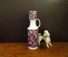 Large vintage Op-Art bisque vase from KPM von ShabbRockRepublic