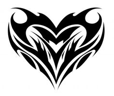 Tribal Heart Symbol Tattoo Design.