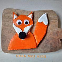 Vos maken van klei   vos klei   vos maken   dieren kleien   klei tekeningen   herfst dieren   kleien   creall klei   creatief met klei Roald Dahl, Fictional Characters, Fantasy Characters