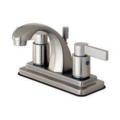 Elements of Design EB464 NuvoFusion Euro high Rise Spout Lavatory Faucet With ABS/Brass Pop-Up