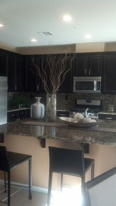 This kitchen is from a model home in Inspirada