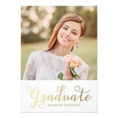 Faux Foil Edition 7 | Graduation Party Invitation THIS IS ADORABLE