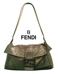 Fendi Authentic Sort Leather Baguette Women Bag with Removable Strap Baguette, Fendi, Wallets, Glamour, Handbags, Personalized Items, Purses, Best Deals, Leather
