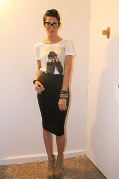 Asos Tshirt, Tom Ford Eyeglasses, Vince Camuto Jewelry, All Saints Pencil Skirt, Jeffrey Campbell Boots