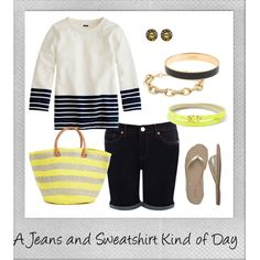 """A Jeans and Sweatshirt Kind of Day"" by closetfashionfix on Polyvore"