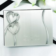 Sparkling Love Silver Plated Guest Book