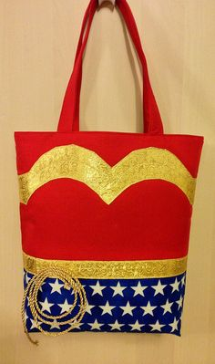 This is our WONDER WOMAN Tote Bag! Designed specifically to look like classic Wonder Woman from early TV classics. http://www.the-bag-depot.com/the-bag-depot-shop.php#!/~/product/category=5628800&id=27346516
