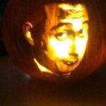 Pee Wee Herman Carved Pumpkin