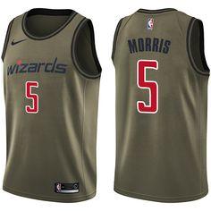 Nike Wizards  5 Markieff Morris Green Salute to Service NBA Swingman Jersey  Markieff Morris 0424ec077
