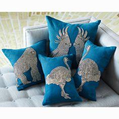 Jonathan Adler Zoology Ostrich Throw Pillow