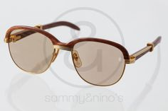 Image of Cartier Malmaison wood gold  :: Vintage Sunglasses