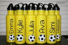 Soccer Gift personalized water bottle