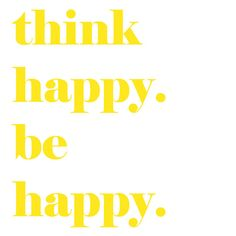 inspirational motivational think happy be happy quote by EcoPrint, $14.00