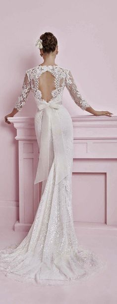 Alon Livné wedding dress with portrait back // Top Wedding Dress Trends for 2015 - Part 1
