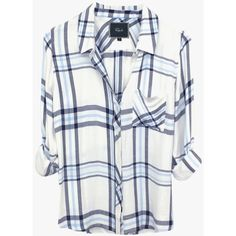 Rails Hunter Shirt (435 MYR) ❤ liked on Polyvore featuring tops, checked shirt, checkered shirt, plaid button up shirts, checkered button down shirt und button up shirts