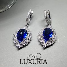 Luxuria red carpet drop dangle earrings.  Ideal wedding accessories or bride / bridal / bridesmaid jewelry gift.  Set available.  925 Sterling silver jewellery NZ