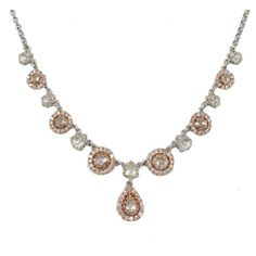 1stdibs - 18 k rose cut and full cut diamond necklace explore items from 1,700  global dealers at 1stdibs.com