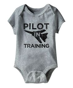 Gray Heather 'Pilot in Training' Bodysuit - Infant