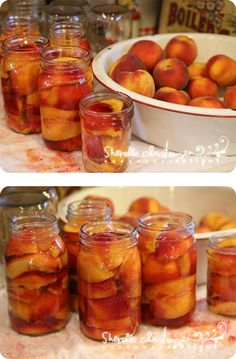 Canning Peaches, Nectarines & Plums (and a canned fruit cobbler recipe) by Sherelle Christensen from My Crazy Life as a Farmer's Wife Fruit Cobbler, Cobbler Recipe, Nectarine And Plum, Nectarine Jam, Canning Food Preservation, Preserving Food, Canning Peaches, Canning Tips, Canning Soup Recipes