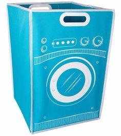 Aposte em um cesto/máquina de lavar para guardar a roupa suja e animar o ambiente.   25 objetos super fofos para organizar a sua casa