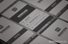Vertical Corporate Business Card Preview 1