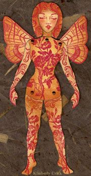 Make your own art paper doll from theenchantedgallery.com; free basic pattern, supplies available from her store