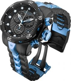 INVICTA Venom Men 53.7mm Stainless Steel Black + Blue Black dial G10.211 Quartz
