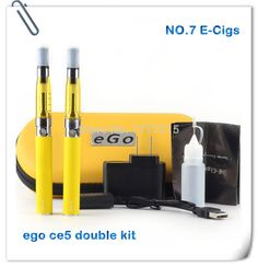check price wholesale high quality ego ce5 electronic cigarette dual kits 2 atomizers 2 ego t batteries #ego #t #battery