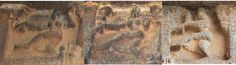 Shiva's karanas in Thiruvadigai; Kailasha and the home of Tripurankata Fig. 26b: Veerateshvara temple panel 35, 62, 99. Granite Nataraja temple, Chidambaram; 13th century Veerateshvara temple, Thiruvadigai; 16th century  Appx. 50 cm  2010, Kandhan Raja Deekshithar, Jayakumar Raja Deekshithar , Sankar Raja Deekshithar, Liesbeth Pankaja Bennink.