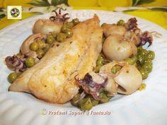 Filetti di merluzzo e seppioline con piselli  Blog profumi Sapori & Fantasia