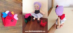 Muñecas personalizadas My Violet :D, La Chica X, cambia de color de pelo en un abrir y cerrar de ojos, con mochila llena de corazones de colores! myvioletdesigns.com