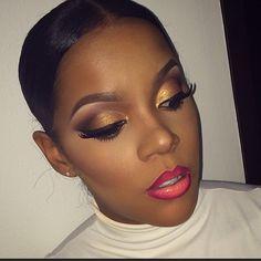 summer lovin' night out makeup brown skin Makeup On Fleek, Flawless Makeup, Gorgeous Makeup, Pretty Makeup, Love Makeup, Makeup Tips, Beauty Makeup, Makeup Looks, Hair Makeup