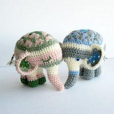 granny square elephants