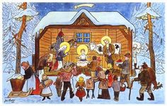 We were browsing online for vintage and old Czech Christmas cards and postcards from then called Czechoslovakia (now the Czech Republic) and we found so many that we decided to share the best ones here with you. Advent, Naive Art, Christmas Music, Christmas Decor, Xmas, Vintage Christmas Cards, Holiday Cards, Art World, Illustrators