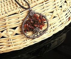 Amber necklace pendant tree of life pendant necklace by styledonna