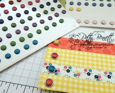 Wasn't sure if the Candy Dot embellishments would stick to Washi Tape.. so tried the Bases with them... perfect!